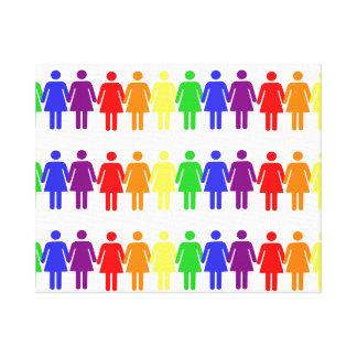 women's rights LGBTQIA Canvas Print