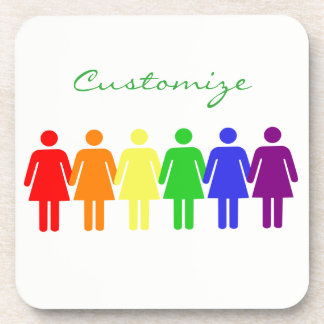 women's rights LGBTQIA Thunder_Cove Drink Coaster