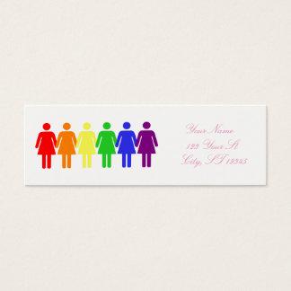 women's rights LGBTQIA Thunder_Cove Mini Business Card
