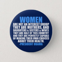 Women's Rights Obama Quote Button