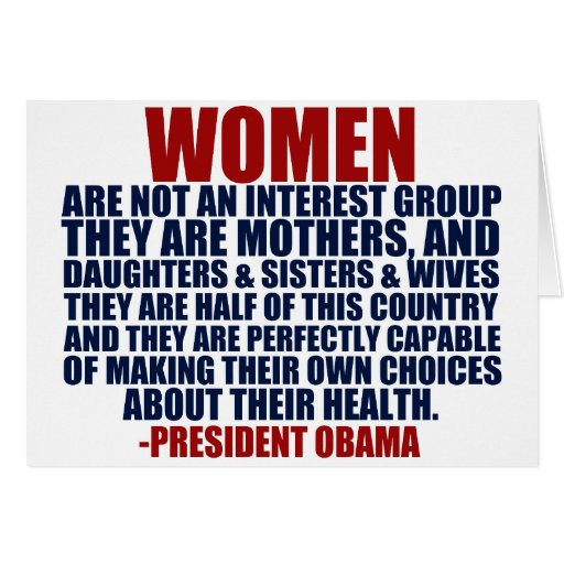Women's Rights Obama Quote Greeting Cards