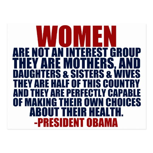 Women's Rights Obama Quote Post Cards