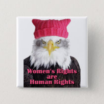 """Women's Rights Pussy Hat Eagle 2"""" Square Button"""