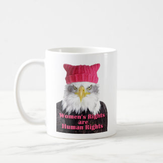 Women's Rights Pussy Hat Eagle Mug