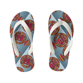 women's rights raised fist 2017 LGBTQIA Kid's Flip Flops