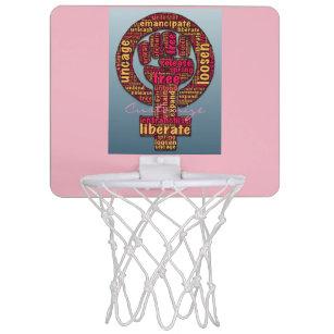 women s rights raised fist mini basketball backboard 90566eeb99