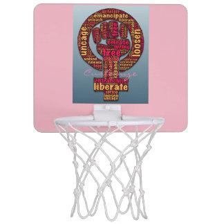 women's rights raised fist mini basketball backboard