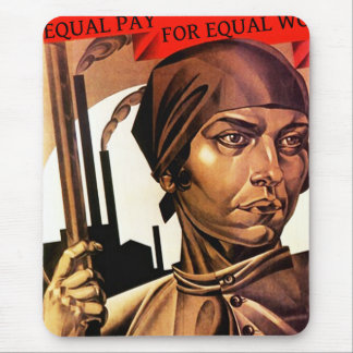 Womens rights workforce equality fair pay Mousepad