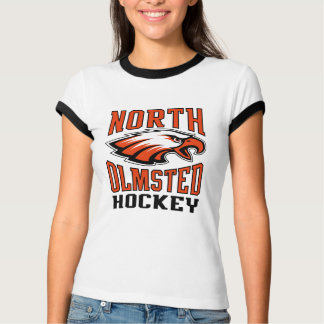 Womens Ringer North Olmsted Hockey tee