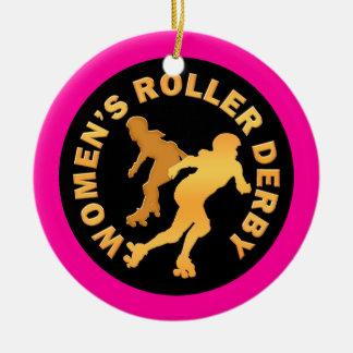 Women's Roller Derby Ceramic Ornament
