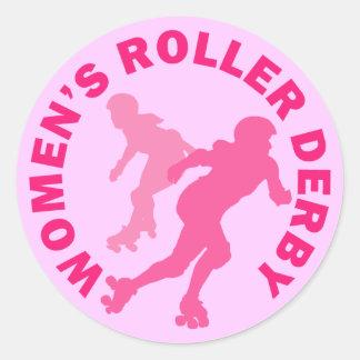 Women's Roller Derby Classic Round Sticker