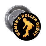 Women's Roller Derby Pinback Buttons