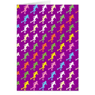 Women's Roller Derby Pop Art Card
