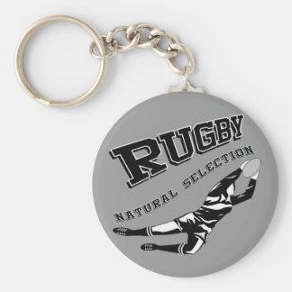 Women's Rugby #2 Basic Round Button Keychain