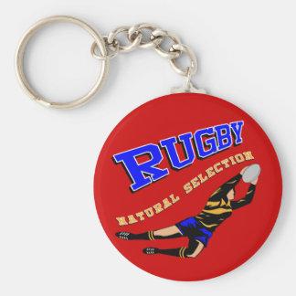 Women's Rugby #2 BY Basic Round Button Keychain