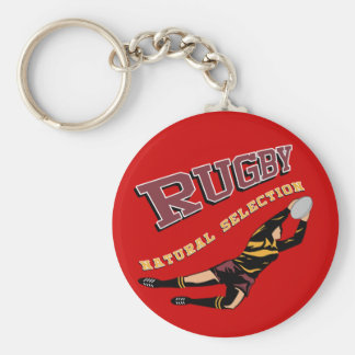 Women's Rugby #2 RY Basic Round Button Keychain
