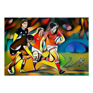Women's Rugby - Art On Canvas Print