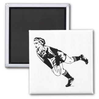 Womens' Rugby Pass 2 Inch Square Magnet