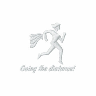 """Womens Running """"Going the distance!"""" AA Fleece Tra Embroidered Jackets"""