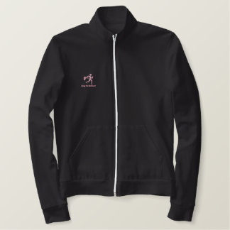 """Womens Running """"Going the distance!"""" Embroidered Jacket"""