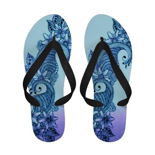 Women's Sandal aqua mehndi Flip Flops