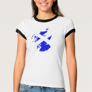 Womens scotland with 45 on rear T-Shirt