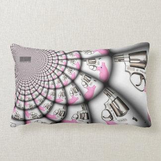 """Women's """"shall not be infringed"""" pink gun lumbar pillow"""
