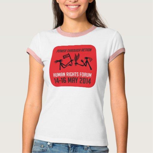 Women's shirt. Human Rights Forum Logo. T Shirts