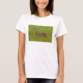Women's shirt with picture of beautiful baby deer