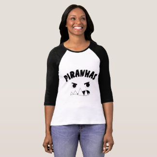 Women's shirt with piranha face