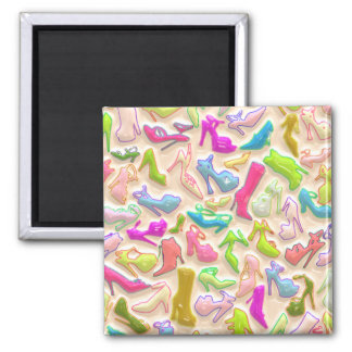 Womens Shoes Collage 2 Inch Square Magnet