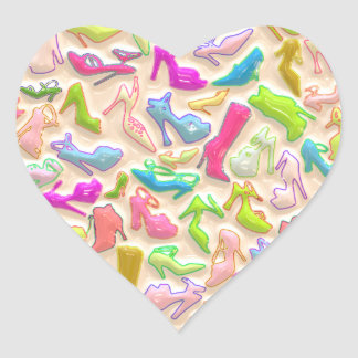 Womens Shoes Collage Heart Sticker