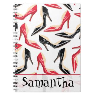 Womens Shoes High Heels Stilletto Spiral Notebook