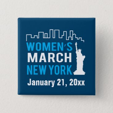daisyprint Women's Sister March New York January Pinback Button