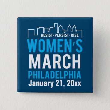 daisyprint Women's Sister March Philadelphia January Button
