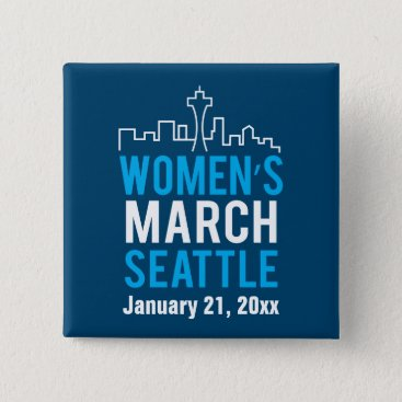 daisyprint Women's Sister March Seattle January Button