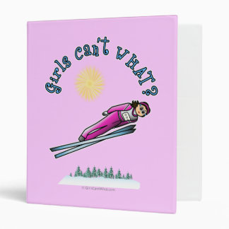 Women's Ski Jumping Vinyl Binders