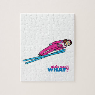 Womens Ski Jumping Jigsaw Puzzle