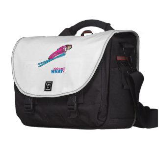 Womens Ski Jumping Laptop Commuter Bag