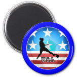 womens soccer 2 inch round magnet