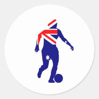 Women's Soccer Australia Classic Round Sticker