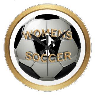Women's Soccer Ball Large Clock