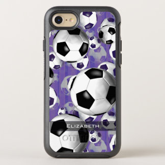 women's soccer ball pattern OtterBox symmetry iPhone 8/7 case