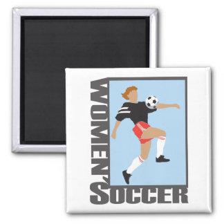womens soccer graphic logo fridge magnet