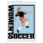 Women's Soccer Greeting Card