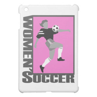 womens soccer grey and pink logo graphic case for the iPad mini