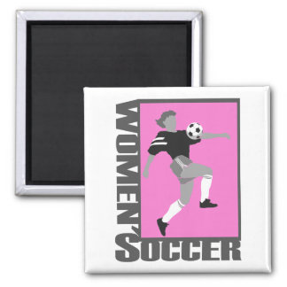 womens soccer grey and pink logo graphic refrigerator magnets