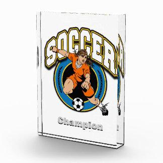 Women's Soccer Logo Acrylic Award