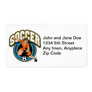 Women's Soccer Logo Label