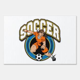 Women's Soccer Logo Lawn Sign